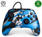 PowerA Xbox Enhanced Wired Controller Metallic Blue Camo
