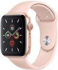 Apple MWVE2DH/A Apple Watch Series 5, 44mm Gold Aluminium Case, Pink Sand Sport