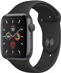 Apple MWVF2DH/A Apple Watch Series 5, 44mm Space Grey Aluminium Case, Black Spor