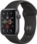 Apple MWV82DH/A Apple Watch Series 5, 40mm Space Grey Aluminium Case, Black Spor