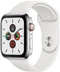 Apple MWWF2DH/A Apple Watch Series 5 + Cellular, 44mm Stainless Steel Case, Whit