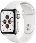 Apple MWX42DH/A Apple Watch Series 5 + Cellular, 40mm Stainless Steel Case, Whit