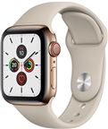 Apple MWX62DH/A Apple Watch Series 5 + Cellular, 40mm Gold Stainless Steel Case,