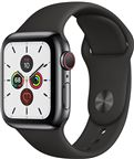 Apple MWX82DH/A Apple Watch Series 5 + Cellular, 40mm Space Black Stainless Case
