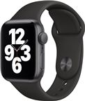 Apple MYDT2DH/A Watch SE GPS, 44mm Space Grey Aluminium Case with Black Sport Ba