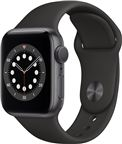 Apple MG133DH/A Watch Series 6 GPS, 40mm Space Grey Aluminium Case with Black Sp