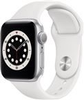 Apple MG283DH/A Watch Series 6 GPS, 40mm Silver Aluminium Case with White Sport