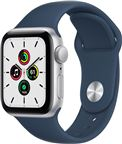 Apple Watch SE 2021 GPS, 40mm Silver Aluminium Case Abyss Blue Sport Band