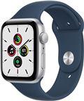 Apple Watch SE 2021 GPS, 44mm Silver Aluminium Case Abyss Blue Sport Band