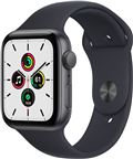 Apple Watch SE 2021 GPS, 44mm Space Grey Alu. Case Midnight Sport Band