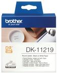 Brother DK-11219 Etiketter   (1,2 cm) 1200stk.