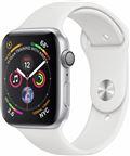 Apple MU642/EU Apple Watch Series 4 40mm GPS Silver med White Sport Band