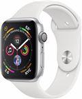 Apple MU6A2/EU Apple Watch Series 4 44mm GPS Silver med White Sport Band
