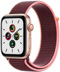 Apple MYEJ2/EU Watch SE GPS + Cellular, 40mm Gold Aluminium Case with Plum Sport