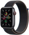 Apple MYEL2/EU Watch SE GPS + Cellular, 40mm Space Grey Aluminium Case with Char