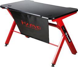 Marvo Gaming bord med lys og carbon. Sort/Rød