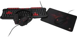 Deltaco 4-in-1 gaming kit, headset, keyboard, mouse, mousepa