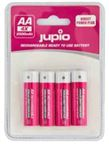 Jupio Rechargeable Batteries AA 2500 mAh 4 pcs DIRECT POWER